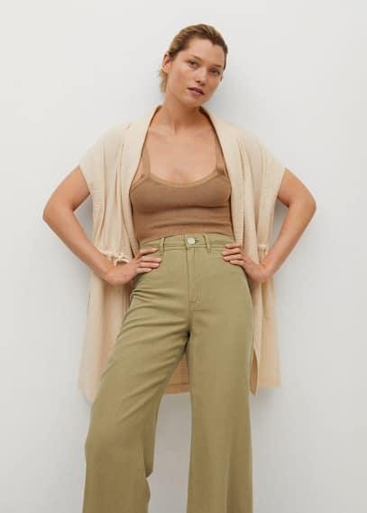 Женские широкие и расклешенные брюки Mango (Манго) 87098630: изображение 5