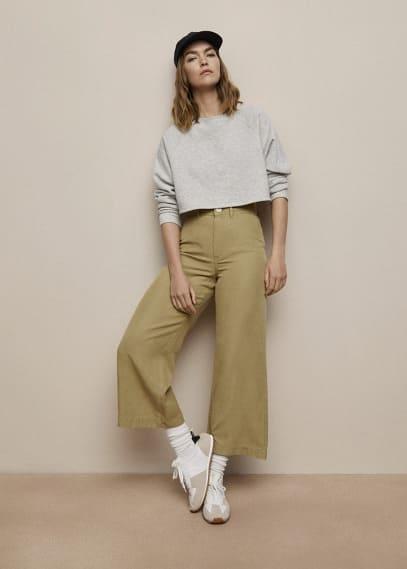 Женские широкие и расклешенные брюки Mango (Манго) 87098630: изображение 6