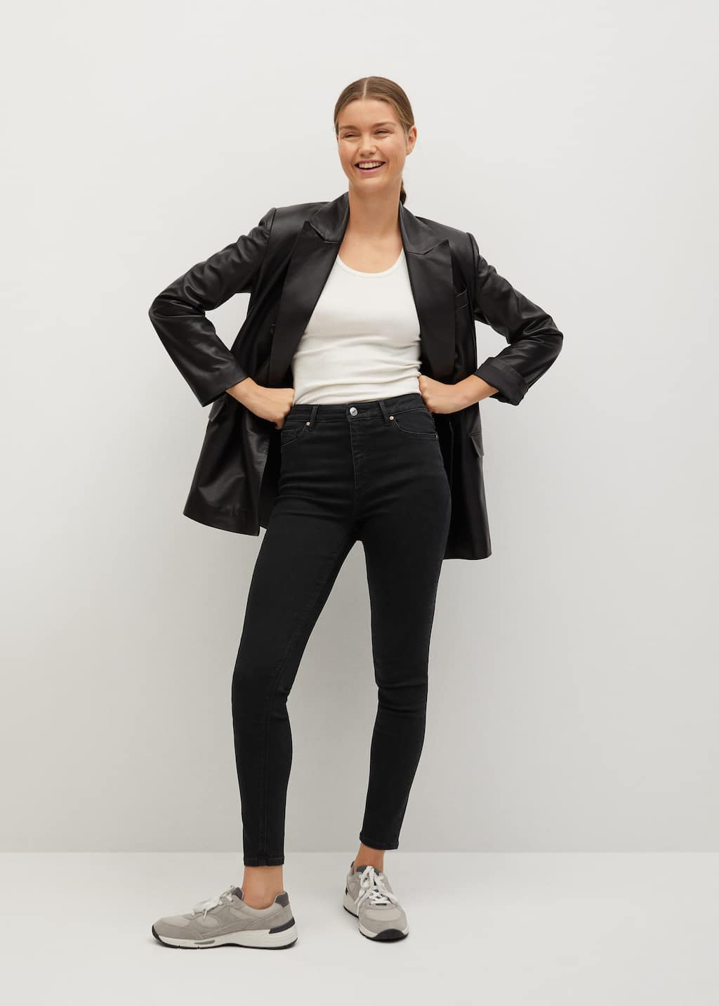 Jean skinny taille haute Noa - Plan général