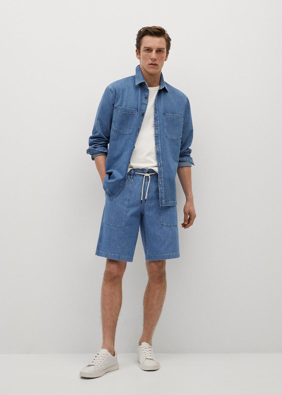 mens summer denim shorts from Mango