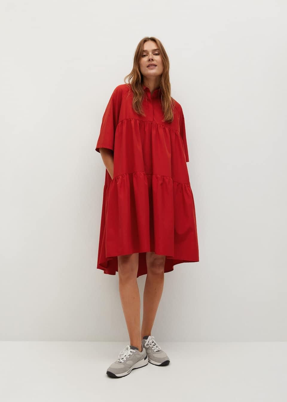 Oversize shirt dress - mango