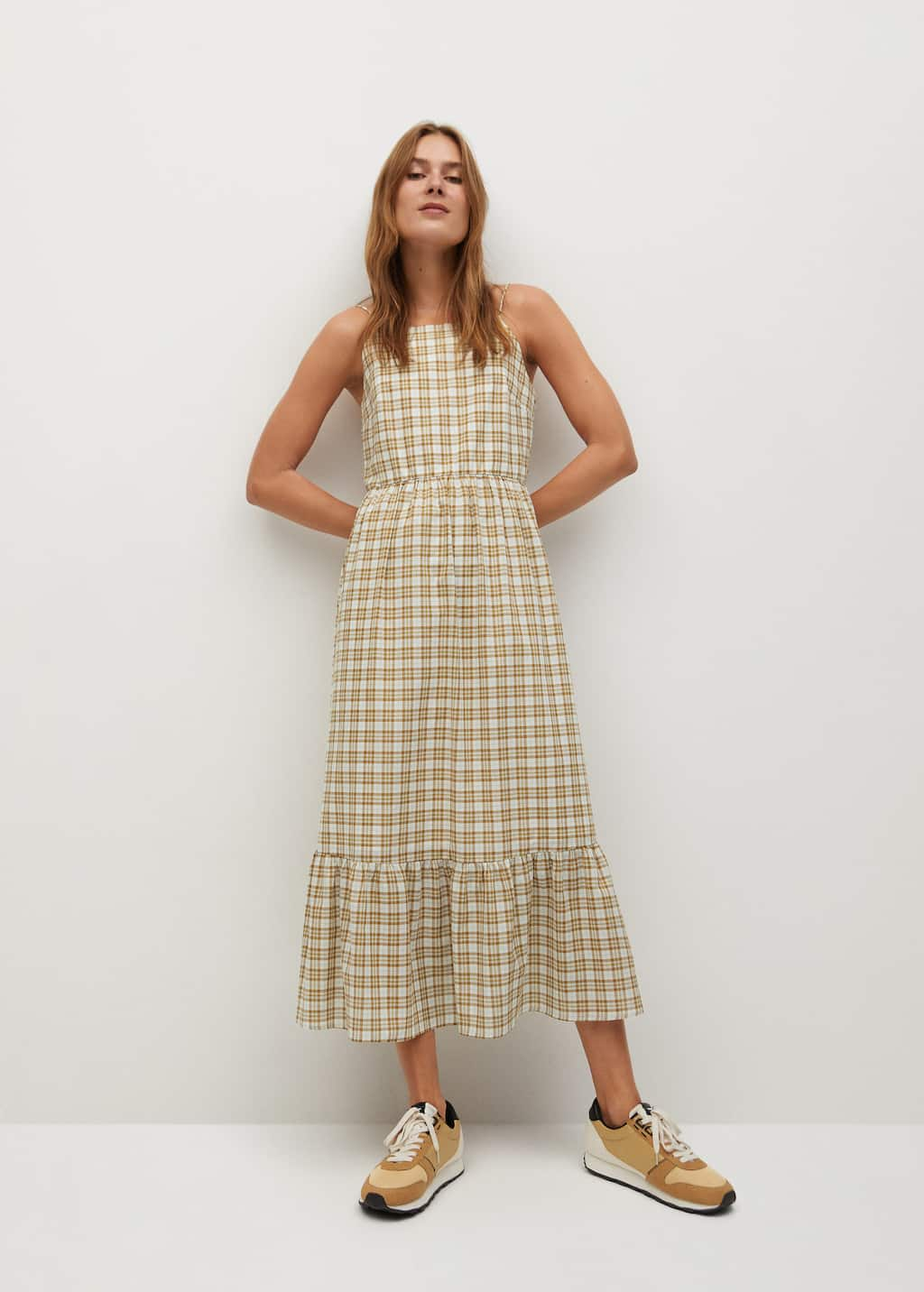 Checked cotton dress - General plane