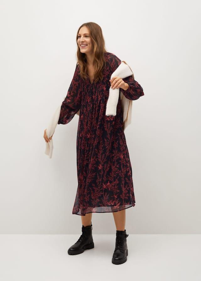 Φόρεμα ριχτό εμπριμέ - Γενικό πλάνο