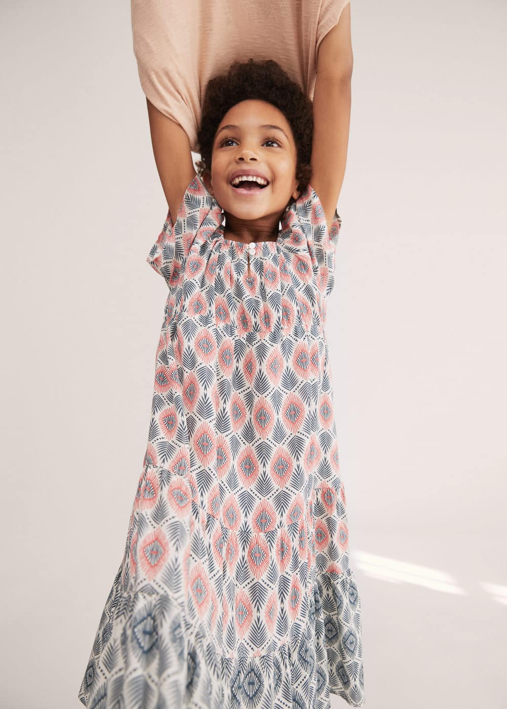 Printed long dress | MANGO KIDS
