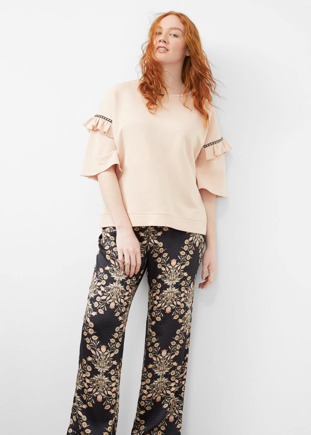 Floral print trousers | MNG