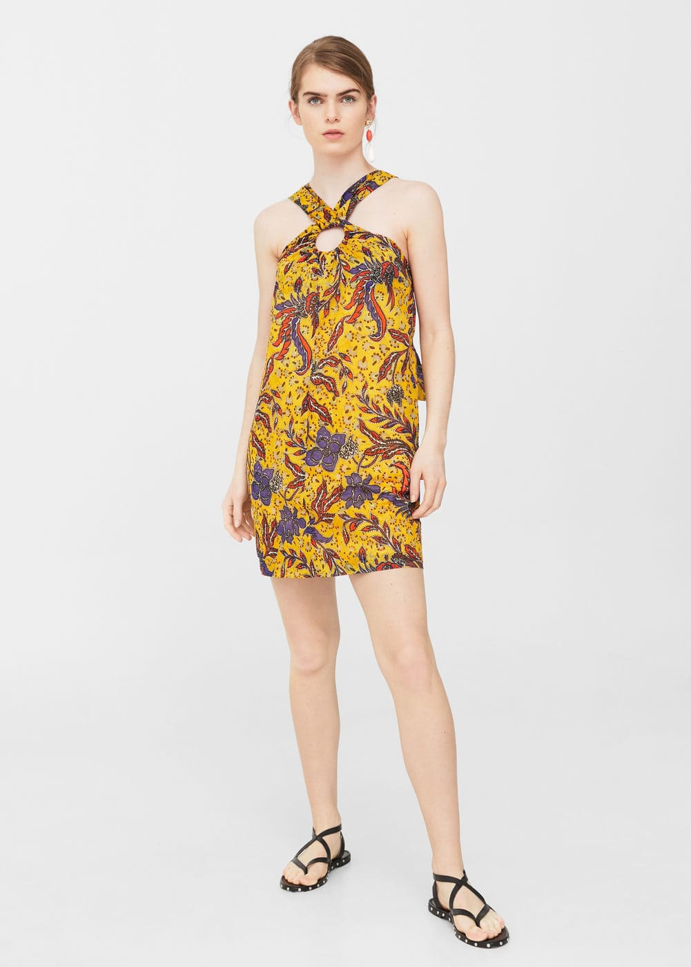 Printed halter gown | MNG