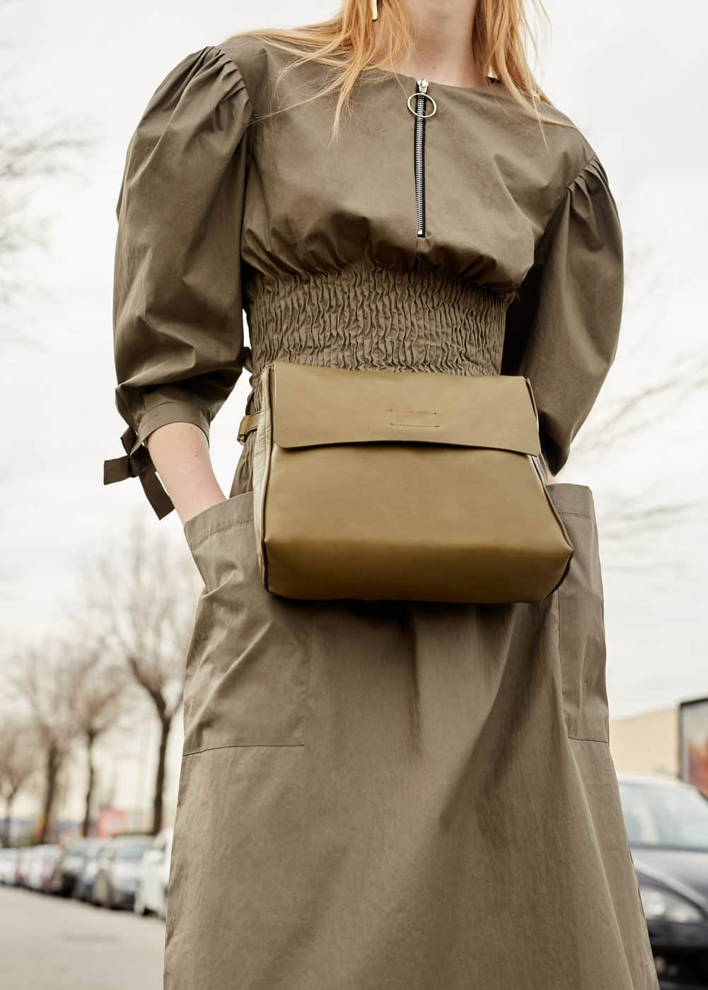 Leather convertible bag | MNG