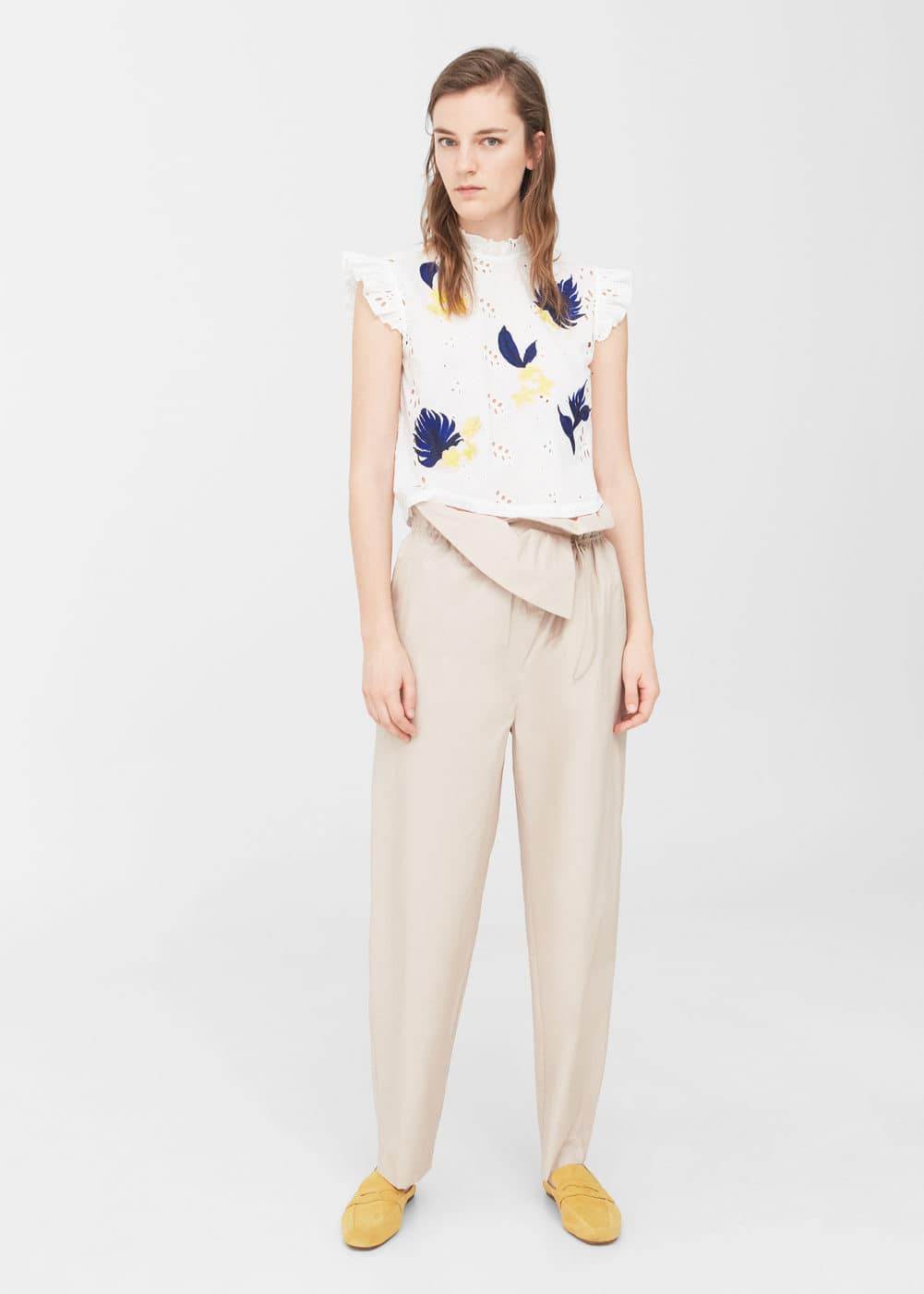 Openwork embroidered blouse | MNG