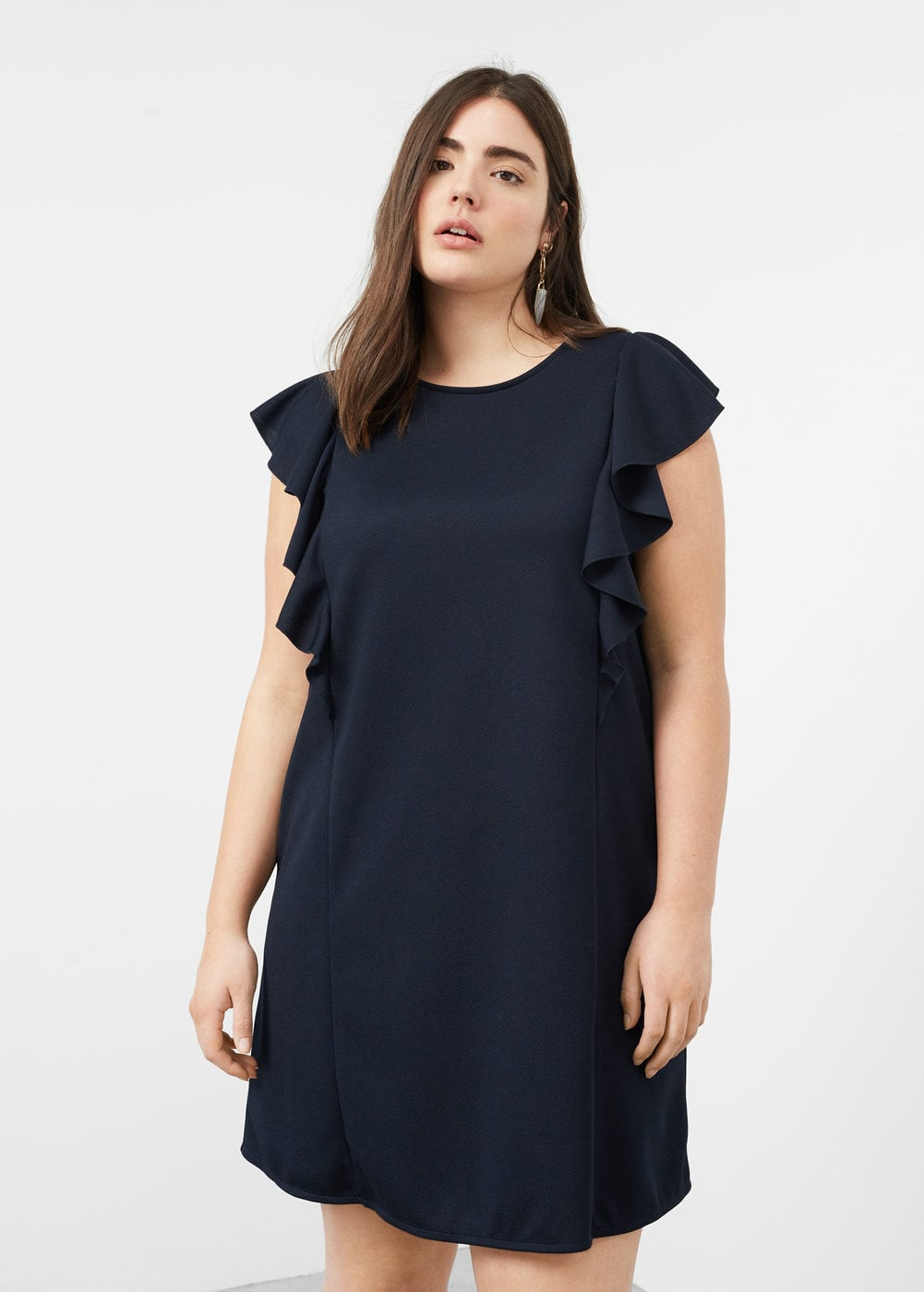 Flowy ruffled dress | VIOLETA BY MNG