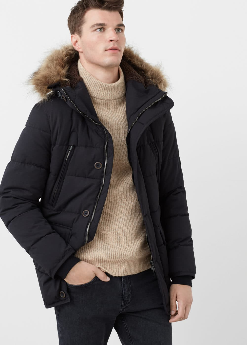 Cotton quilted jacket | MANGO MAN