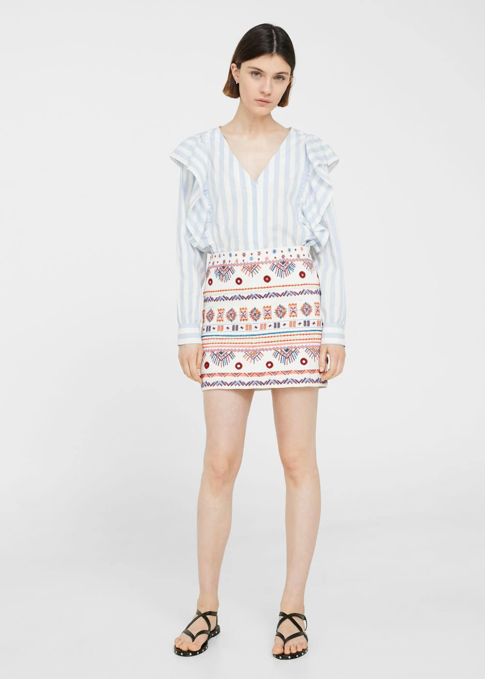 Embroidered skirt | MNG