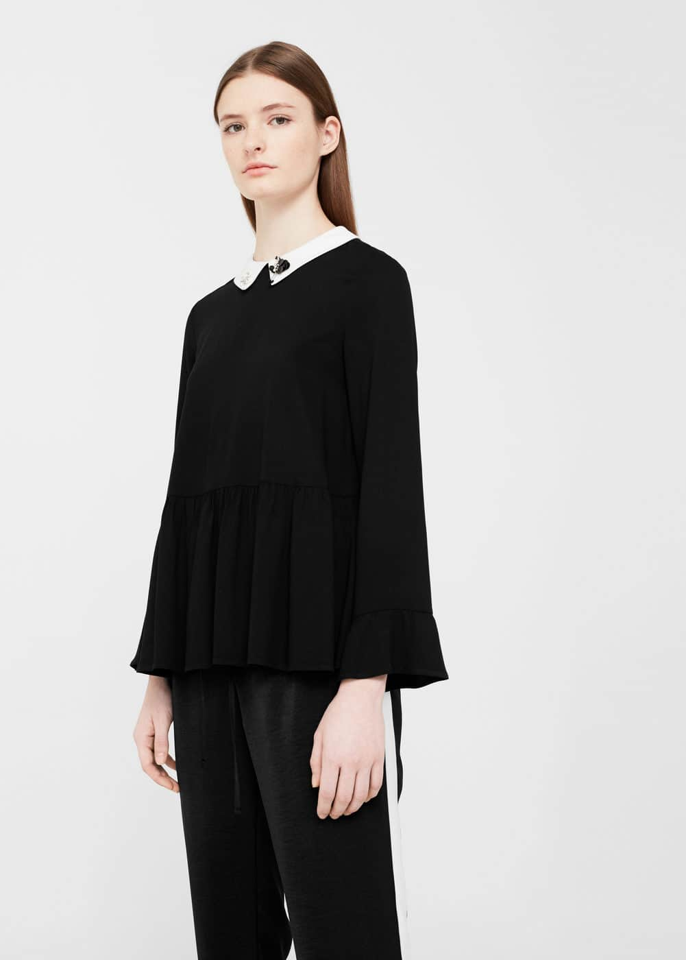 Bead neck blouse | MNG