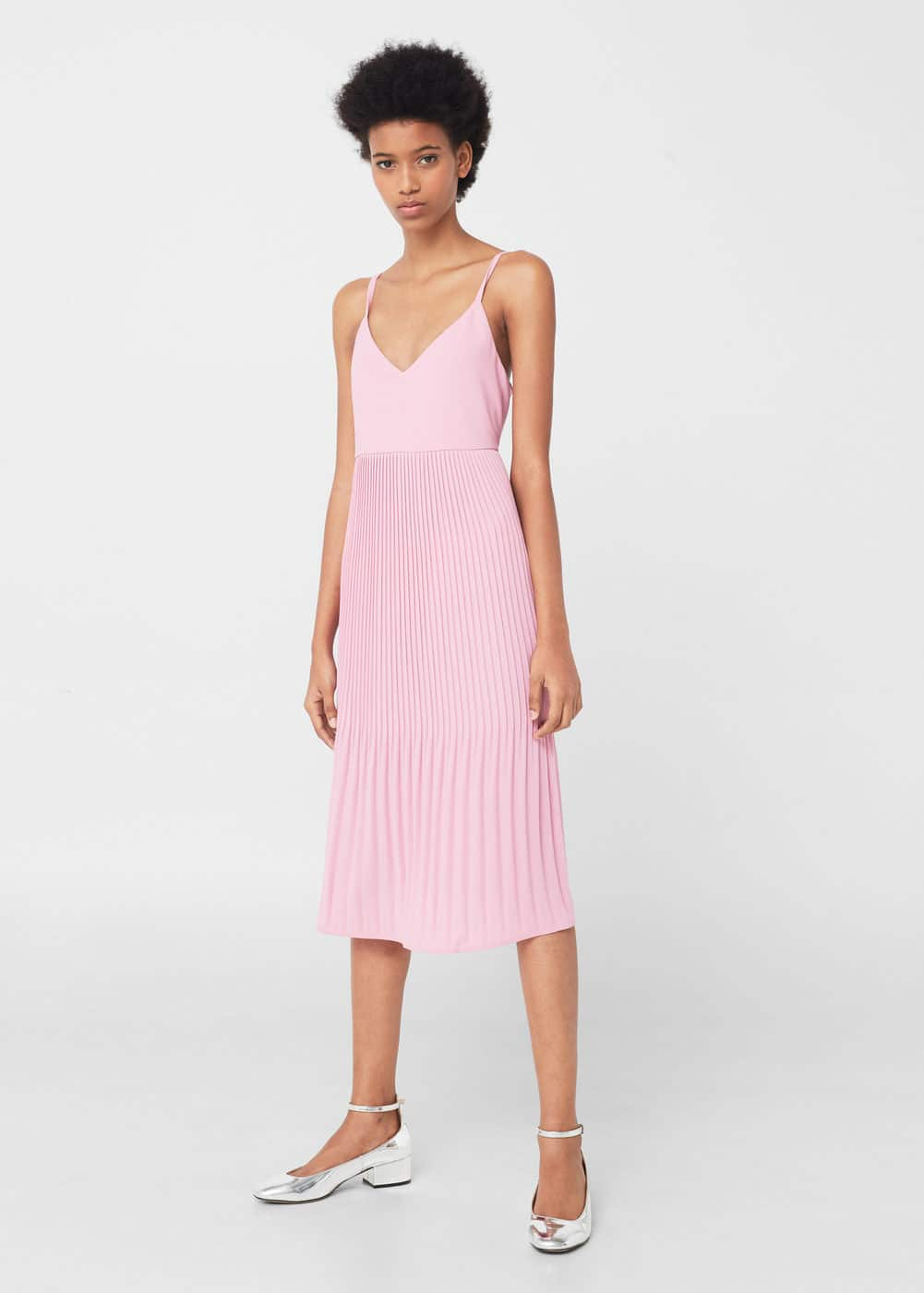 Pleated dress - Woman | MANGO United Kingdom