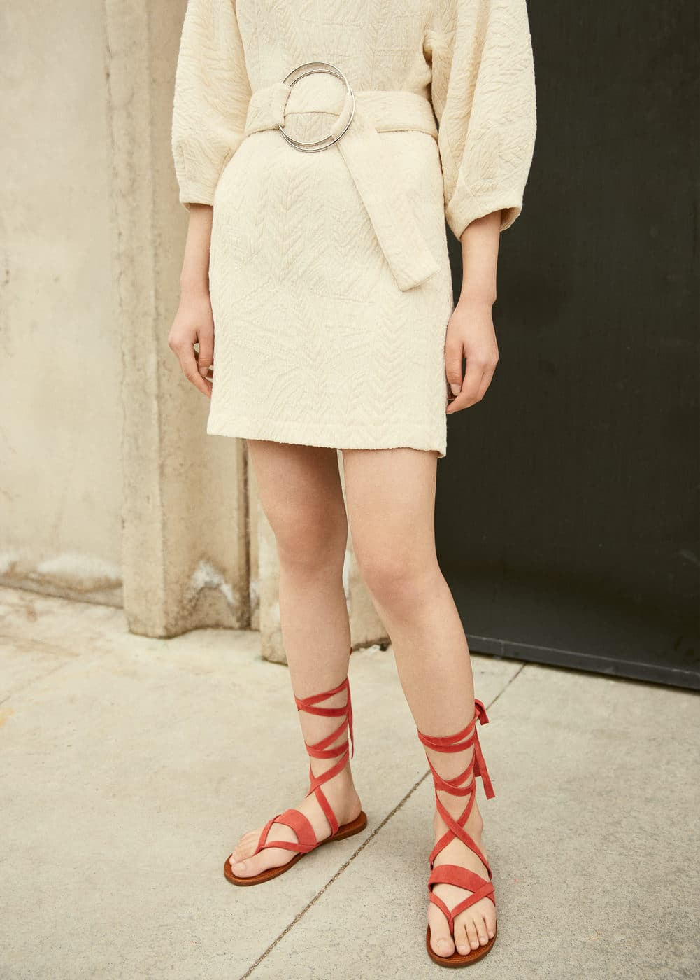 Leather gladiator sandals | MNG