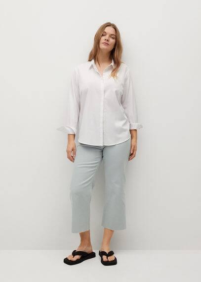 Джинсы Culotte с необработанными краями - Florence