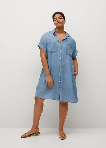Платье деним из лиоцелла - Uva