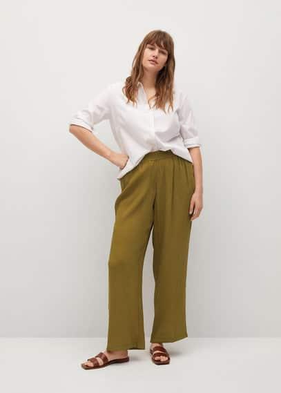 Струящиеся брюки-клеш - Fluber