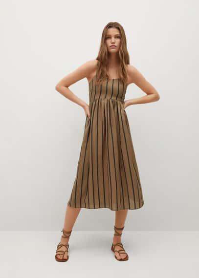 Платье из рами в полоску - Morocco