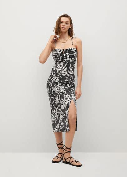 Хлопковое платье с принтом - Dalia