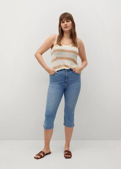Укороченные джинсы с посадкой на талии - Sandrine