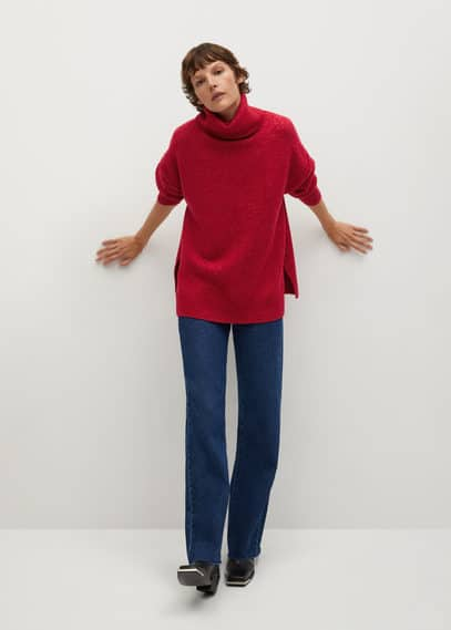 Объемный свитер с воротником с отворотом - Picasso