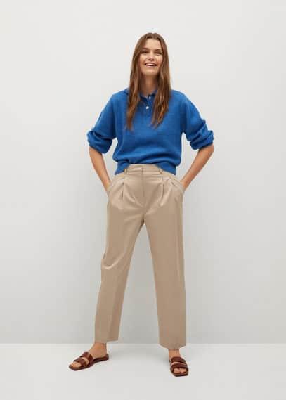 Хлопковые брюки с защипами - Nomo-i