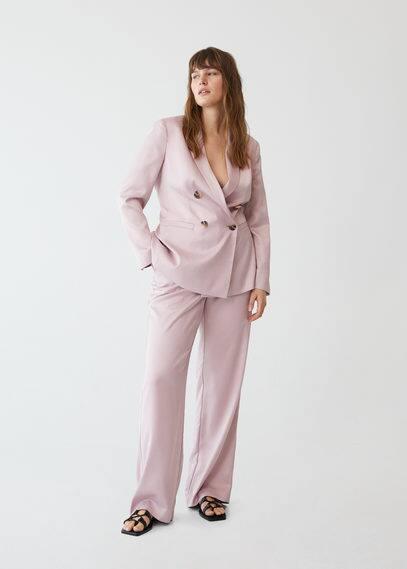 Костюмные брюки из атласа - Frufru