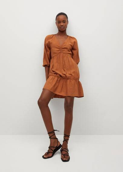Фактурное платье с воланом - Falcon