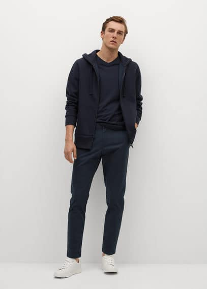 mango man - Tapered-chinohose in cropped-länge