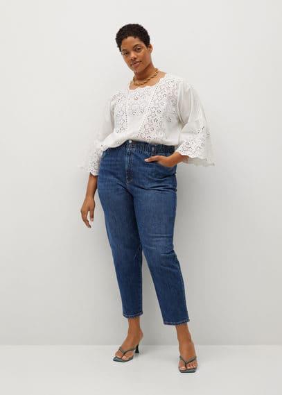 Укороченные джинсы Paperbag - Paperbag