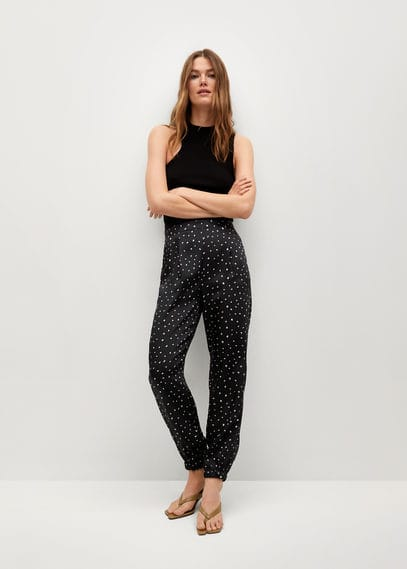 Атласные брюки с защипами - Jogo