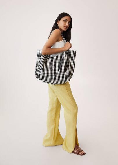 Сумка-шоппер из ткани виши - Marbella