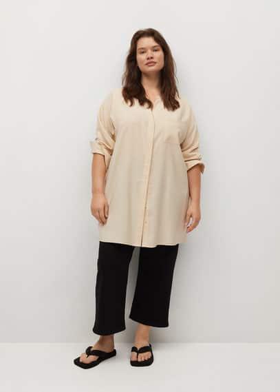 Струящаяся блузка с карманом - Virgina
