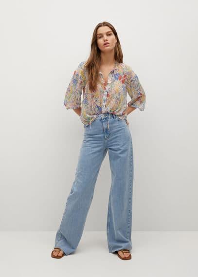 Блузка с цветочным принтом - Loto