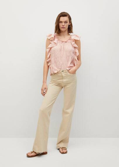 Фактурная блузка с воланами - Costa