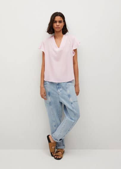 Фактурная блузка с завязками - Pleamar