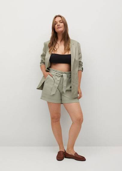 Джинсовые шорты с поясом - Pilar