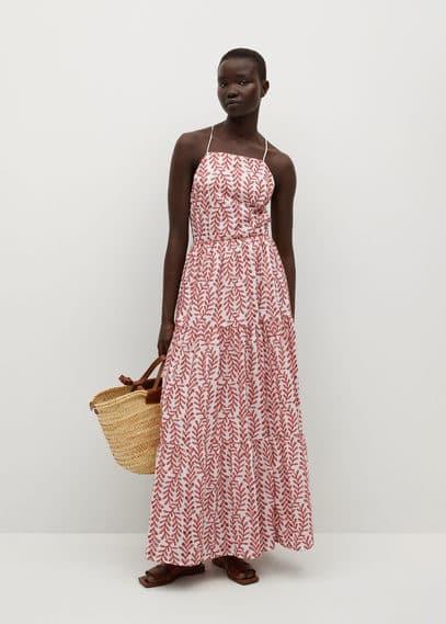 Платье с вышивкой и открытой спиной - Serenity