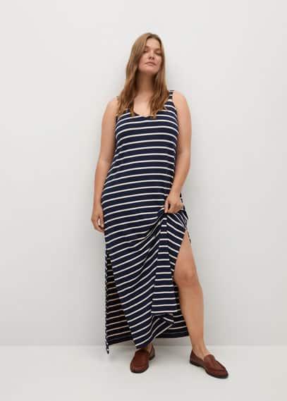 Трикотажное платье в полоску - Guay