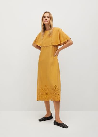 Ажурное платье из хлопка - Jake-a