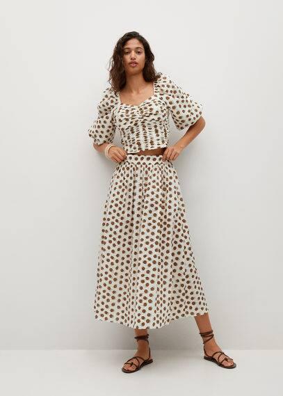 Хлопковая юбка с принтом - Elna