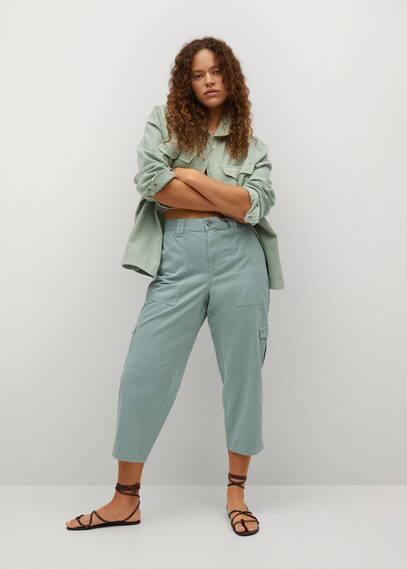 Укороченные джинсы-карго - Kargo