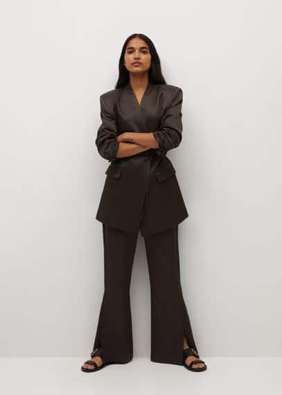 Атласные брюки с разрезами - Viola-a