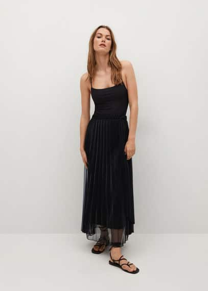 Плиссированная юбка металлик - Air-a