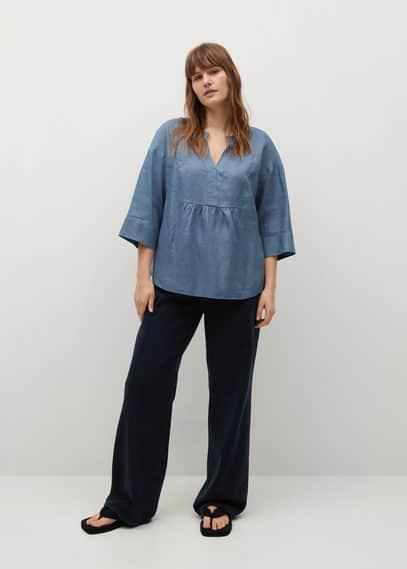 Блузка 100% лен - Basili8
