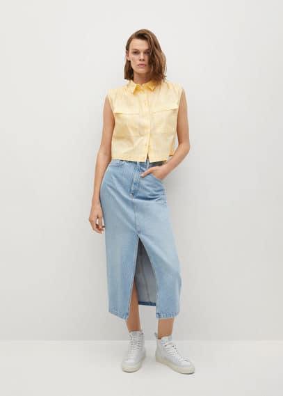 Укороченная рубашка из хлопка - Rita