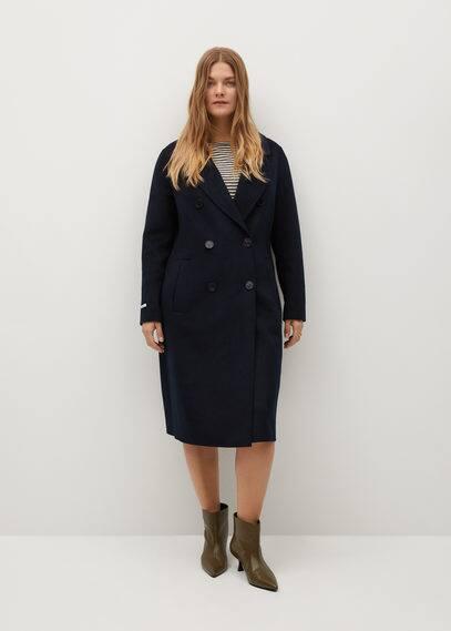Шерстяное пальто ручной работы - Navy