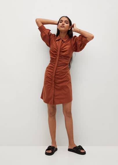 Платье с драпировкой - Austra