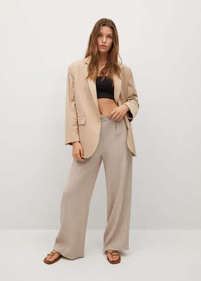 Струящиеся плиссированные брюки - Sporty
