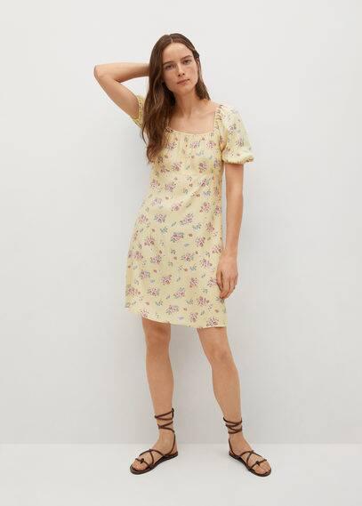 Платье с цветочным принтом - Leti